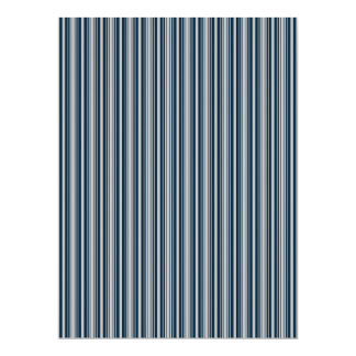 Midnight Blue and Christmas Silver Stripes Personalized Announcement Cards