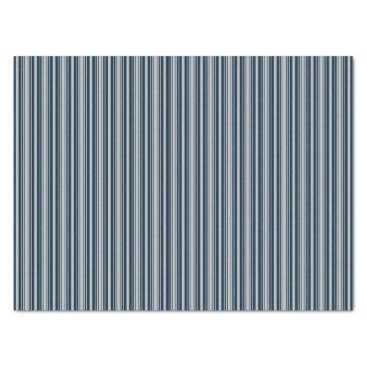 Aqua Midnight Blue and Christmas Silver Stripes Tissue Paper