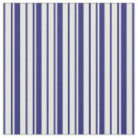 [ Thumbnail: Midnight Blue and Mint Cream Stripes Fabric ]