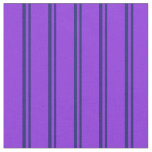 [ Thumbnail: Midnight Blue and Purple Colored Lines Fabric ]