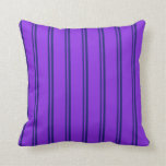 [ Thumbnail: Midnight Blue and Purple Colored Lines Pillow ]