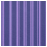 [ Thumbnail: Midnight Blue and Purple Colored Stripes Fabric ]