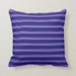 [ Thumbnail: Midnight Blue and Purple Colored Stripes Pillow ]