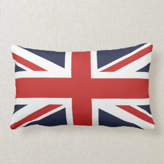 Midnight Blue and Red Union Jack Lumbar Pillow