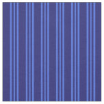 [ Thumbnail: Midnight Blue and Royal Blue Lines Fabric ]
