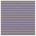[ Thumbnail: Midnight Blue and Tan Colored Pattern Fabric ]