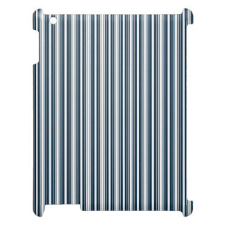 Midnight Blue and White Christmas Stripes Cover For The iPad 2 3 4