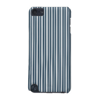 Midnight Blue and White Christmas Stripes iPod Touch (5th Generation) Case