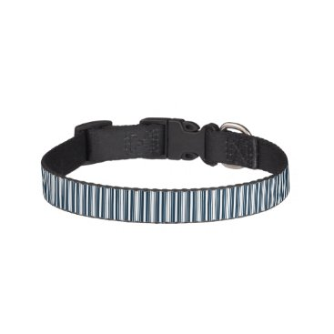 Disney Themed Midnight Blue and White Christmas Stripes Pet Collar