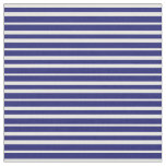 [ Thumbnail: Midnight Blue and White Colored Pattern Fabric ]
