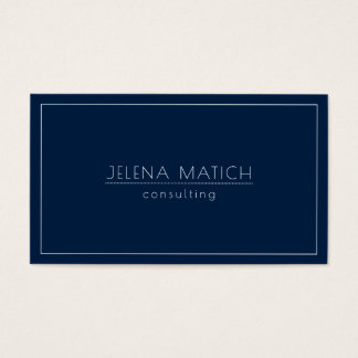Midnight Blue and White Minimalistic Design Business Card