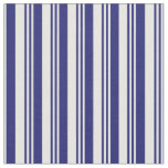 [ Thumbnail: Midnight Blue and White Pattern Fabric ]