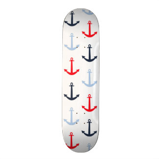 Midnight Blue, Baby Blue, Bright Red Anchors Skateboards