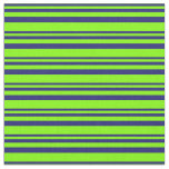 [ Thumbnail: Midnight Blue & Chartreuse Lined/Striped Pattern Fabric ]