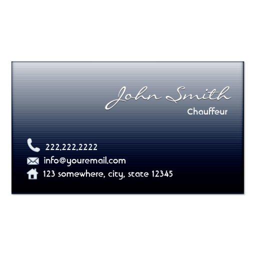 Midnight Blue Chauffeur Business Card