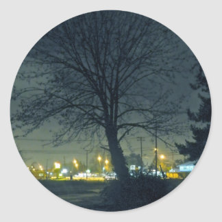 Midnight Blue Classic Round Sticker