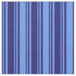 [ Thumbnail: Midnight Blue & Cornflower Blue Pattern Fabric ]