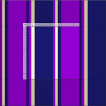 [ Thumbnail: Midnight Blue, Dark Violet & Tan Pattern Fabric ]