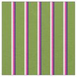 [ Thumbnail: Midnight Blue, Deep Pink, Light Yellow, and Green Fabric ]