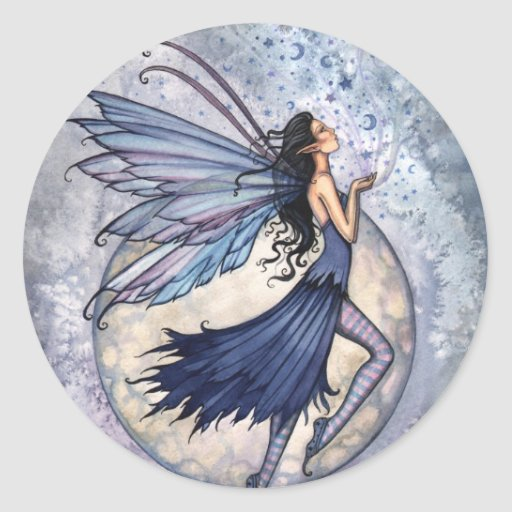 Midnight Blue Fairy Stickers by Molly Harrison