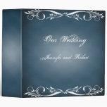 Midnight Blue Floral Posh Wedding Binder