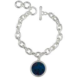 Midnight Blue Frost Crystals Fractal Bracelets