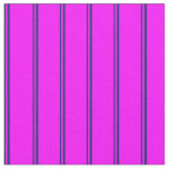 [ Thumbnail: Midnight Blue & Fuchsia Colored Lines Fabric ]