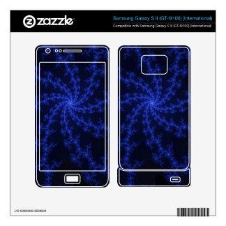 Midnight Blue Galaxy - fractal art Samsung Galaxy S II Skin