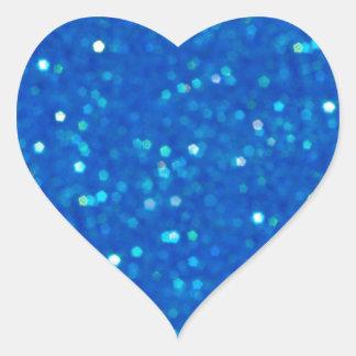 Midnight Blue Glitz Heart Shaped Stickers