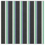 [ Thumbnail: Midnight Blue, Grey, Sea Green, Light Cyan & Black Fabric ]