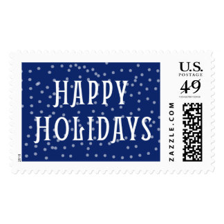 Midnight Blue Holiday Postage Stamps