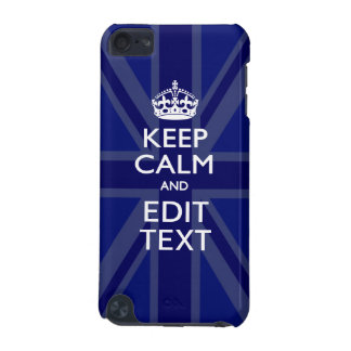 Midnight Blue Keep Calm Get Your Text Union Jack iPod Touch 5G Cover