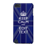Midnight Blue Keep Calm Get Your Text Union Jack iPod Touch (5th Generation) Covers