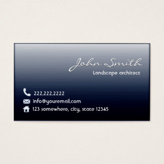 Midnight Blue Landscape Architect Business Card