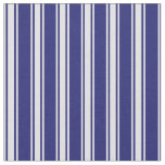 [ Thumbnail: Midnight Blue & Lavender Lined/Striped Pattern Fabric ]