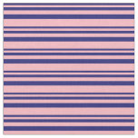 [ Thumbnail: Midnight Blue & Light Pink Striped/Lined Pattern Fabric ]