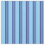 [ Thumbnail: Midnight Blue & Light Sky Blue Colored Lines Fabric ]