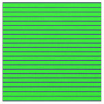 [ Thumbnail: Midnight Blue & Lime Pattern of Stripes Fabric ]