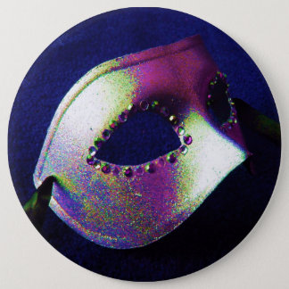 Midnight Blue Masquerade Button