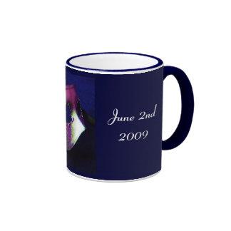Midnight Blue Masquerade Ringer Coffee Mug
