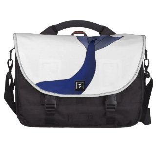 Midnight Blue Mermaid Tail Laptop Computer Bag
