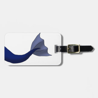 Midnight Blue Mermaid Tail Tag For Bags