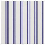 [ Thumbnail: Midnight Blue & Mint Cream Colored Stripes Fabric ]
