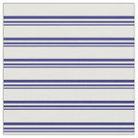 [ Thumbnail: Midnight Blue & Mint Cream Striped/Lined Pattern Fabric ]
