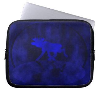 Midnight blue Moose Laptop Sleeves