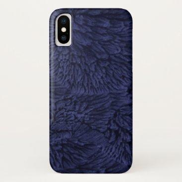 Midnight Blue Pattern iPhone XS Case