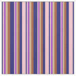 [ Thumbnail: Midnight Blue, Pink, Dark Orchid, Tan & Sienna Fabric ]