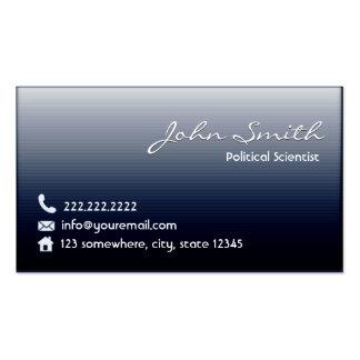 Midnight Blue Political Scientist Business Card