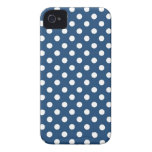 Midnight Blue Polka Dot Iphone 4/4S Case iPhone 4 Case-Mate Cases