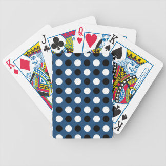 Midnight Blue Polka Dots Bicycle Playing Cards